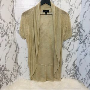 Mossimo Short Sleeve Cardigan Beige XS